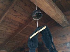 """Mouse hangers"" keep field mice away."