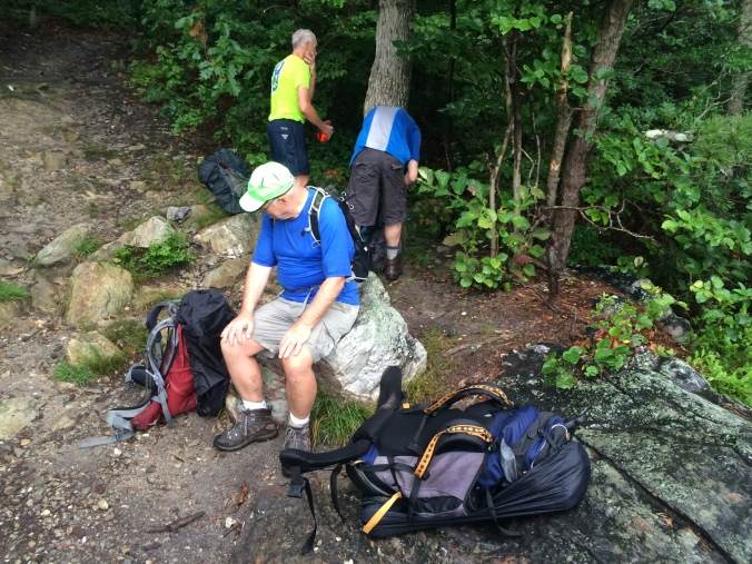 The first hike was a strenuous 16-miler from the Reno Monument on Maryland's South Mountain south to Harpers Ferry, WV.  The heat took its toll.
