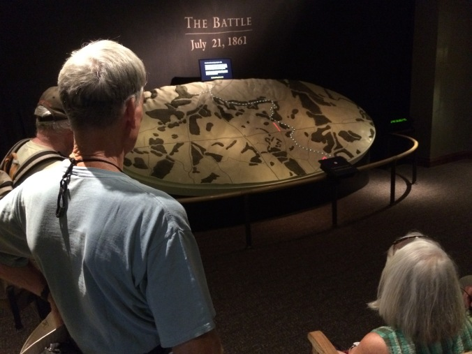 We started the morning with a preview of the battle in the visitors center.