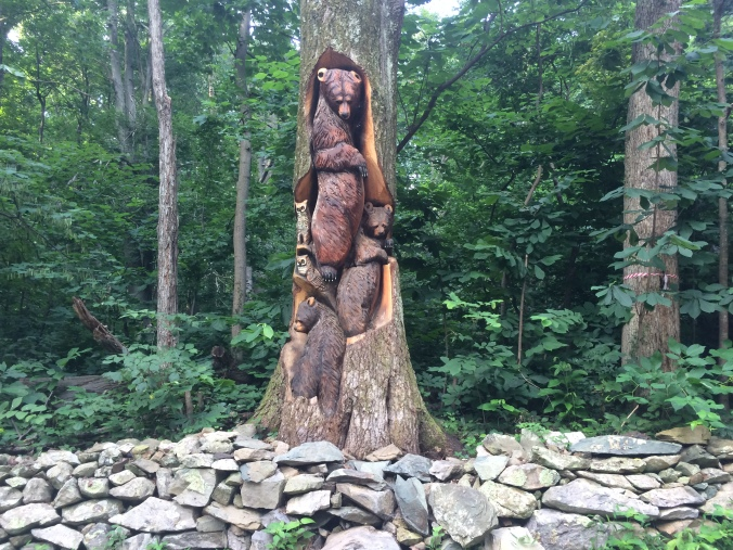 Chainsaw sculpture at Bears Den Hostel, Va.