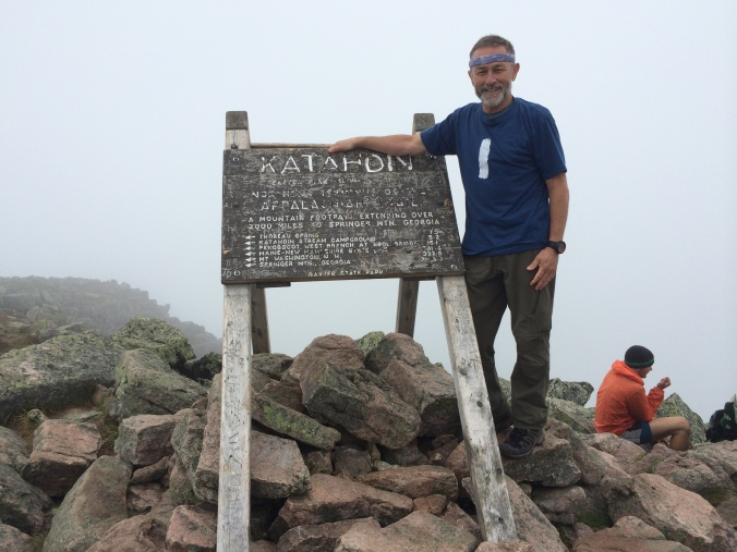 Aug. 6, 2014.  I took summit photos in two different shirts.