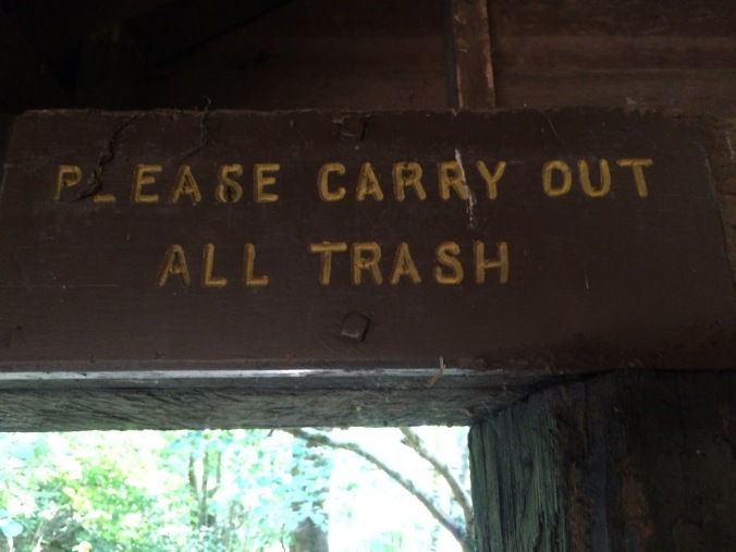 Of course the trash was right next to this sign.