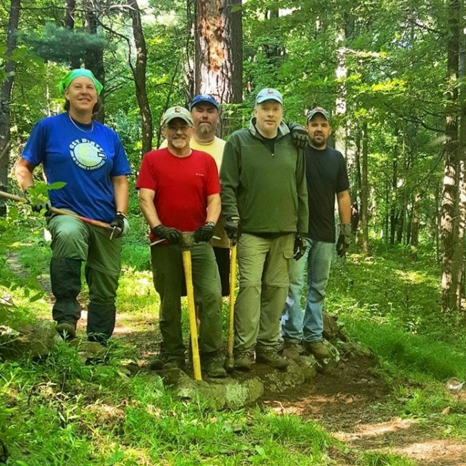 Your August 2015 trail crew:  Cindy Ardecki, me, Brian Snyder, Noel Freeman, and David Sylvester.