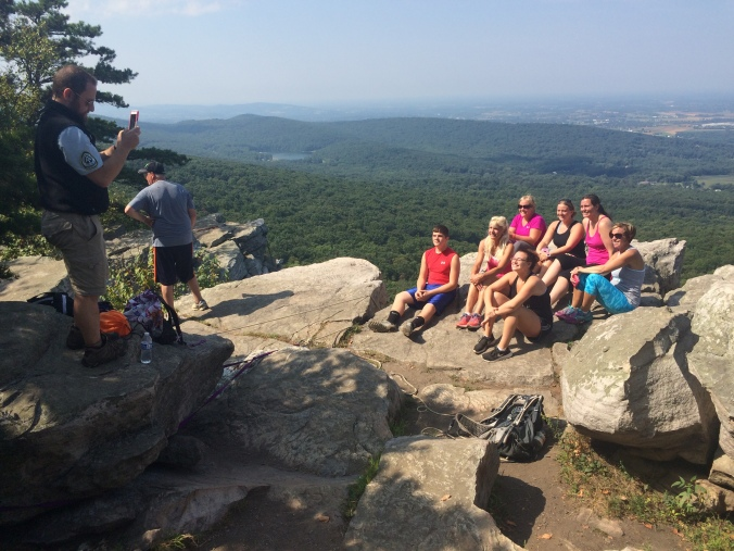 The upside to caretaking at Annapolis Rocks is obvious. People seem to love a guy with patches on his shirt.