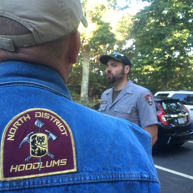 The workshop is a cooperative effort between the Hoodlums trail crew and the Shenandoah park rangers.